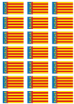 Valencia Flag Stickers - 21 per sheet